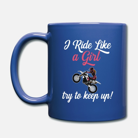 Motocross Mugs & Drinkware - Dirt Biking Motocross Supercross Design Womens - Mug royal blue