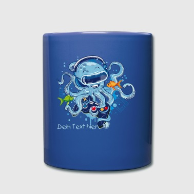 Octopus with gamepad and VR goggles - Full Colour Mug