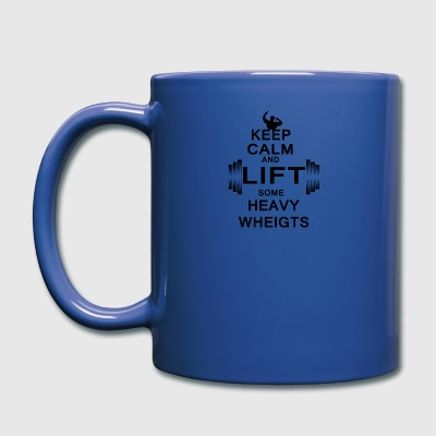 KEEP CALM lift some heavy weights - Tasse einfarbig
