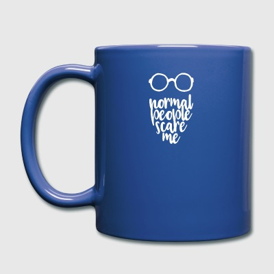 Normal people scare me - white - Full Colour Mug
