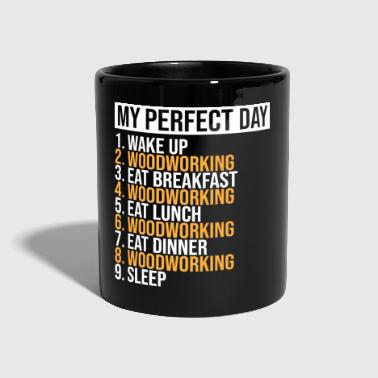 My Perfect Day Woodworking Funny Eat Sleep T-shirt - Kubek jednokolorowy