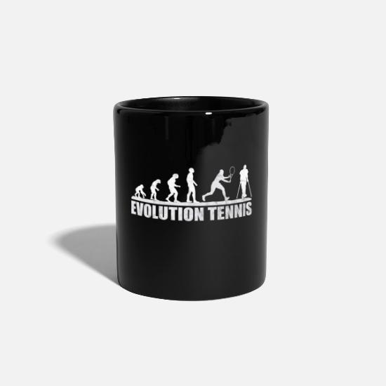 Birthday Mugs & Drinkware - Tennis Court Tennis Court Tennis Player Backhand - Mug black