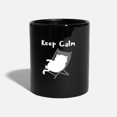 Keep Calm Katzen - cats keep calm - Tasse einfarbig