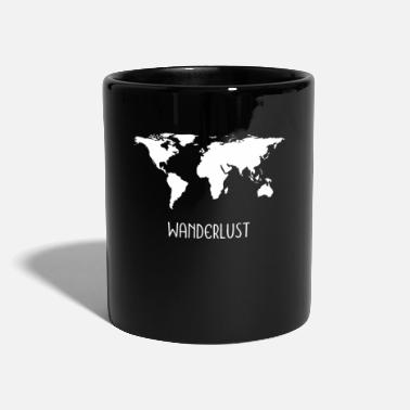 Caravan Wanderlustmotiv World Map Gift Gift Idea - Mug
