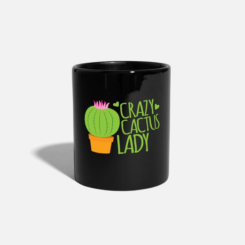 Bestsellers Q4 2018 Mugs & Drinkware - crazy cactus lady - Mug black