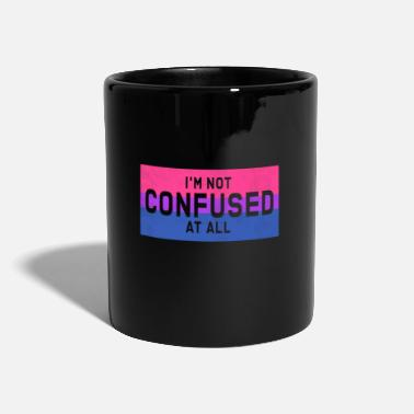 LGBT I'm not confused - Bisex flag with quote - Tazza
