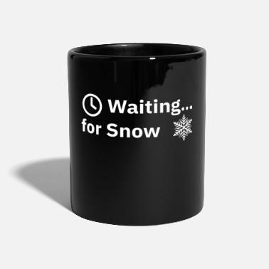 Snow Fall Waiting For Snow | Cool winter / fall design - Full Colour Mug