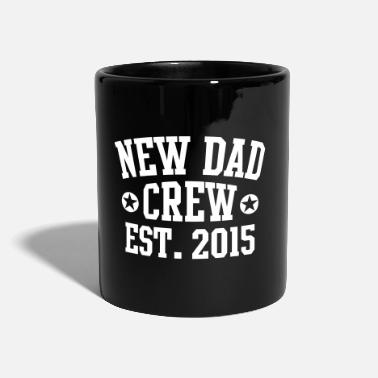 NEW DAD CREW Established 2015  - Enfärgad mugg