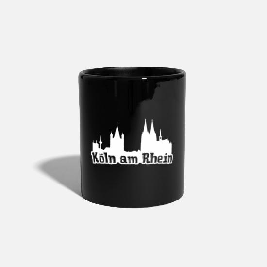Gift Idea Mugs & Drinkware - Cologne on the Rhine Kölsch Kölle Cologne Cathedral Rhineland - Mug black