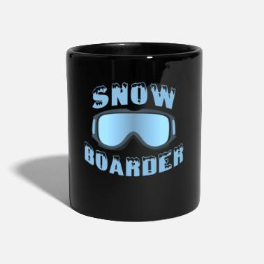 Snowboarding glasses boarder snow sport - Mug