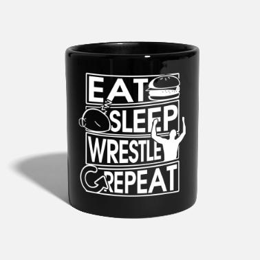 Nonno Eat Sleep Wrestle Repeat Wrestling Gift - Tazza monocolore