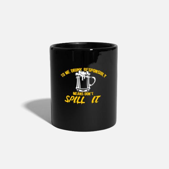 Alcohol Mugs & Drinkware - Alcohol liquor gift idea - Mug black