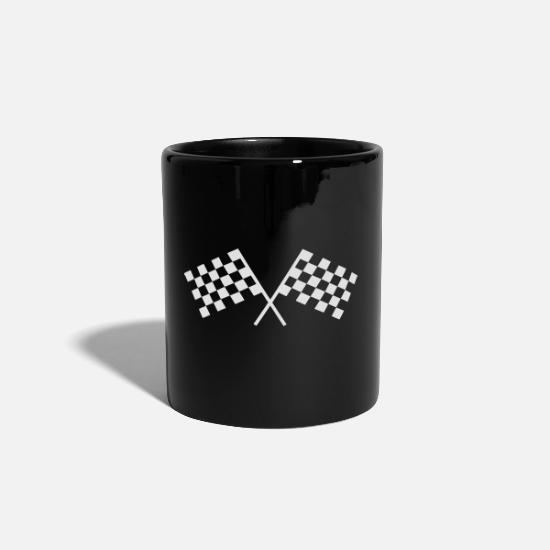 Motorsport Mugs & Drinkware - Car racing flags - Mug black