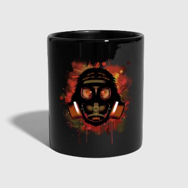 Urban Monkey with Gas mask Fallout T-Shirts - Full Colour Mug