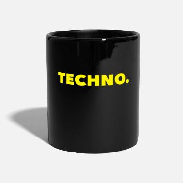 Techno Music Logo Techno Music Yellow - Kubek jednokolorowy