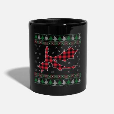 Humør Jul Cool Dragon Buffalo Plaid Xmas Holiday - Krus