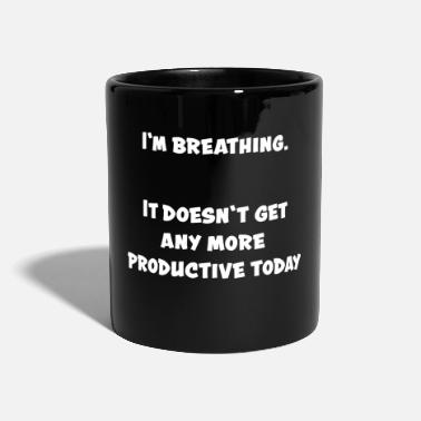 Funny Funny funny in breathing - Full Colour Mug