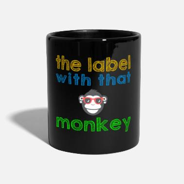 the label with that monkey - Tasse