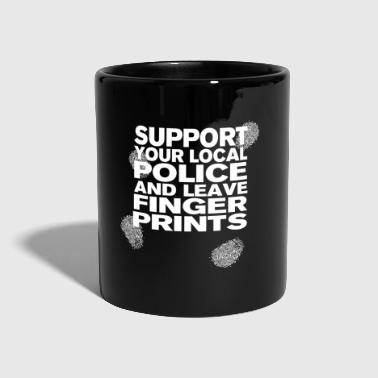 Support The Police - Leave Fingerprints White - Tasse einfarbig