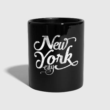 New York City typografia - Kubek jednokolorowy