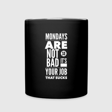 Mondays are not so bad it's your job - Enfärgad mugg