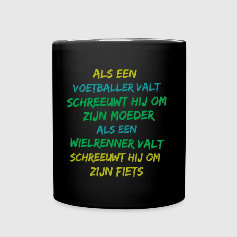 wielershirt wielerquote shirt design - Mok uni