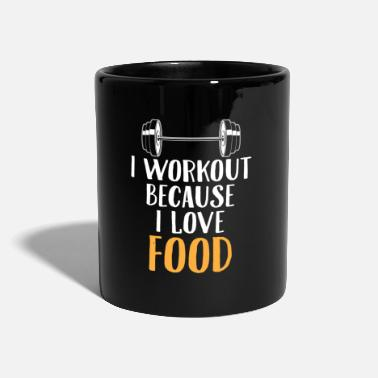 Funny Gym I train because I love to eat foodie gift - Full Colour Mug