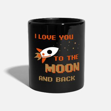 Verlobter I Love You To The Moon And Back - Tasse einfarbig