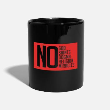 Viking Atheist No God Miracle Holy Dogma Red - Tazza monocolore