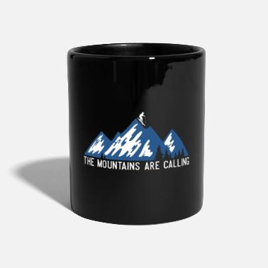 Slope Mountain skiing ski slope saying - Mug