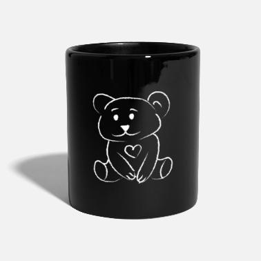 Pinceau Ours Ours Amour Coeur Amour Ours En Peluche - Mug uni