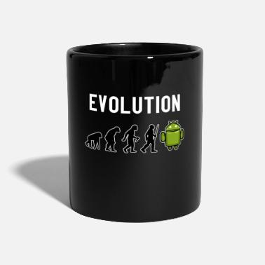 Grappige Teksten Evolution Robot Space Sci-fi Gift Gamer - Mok