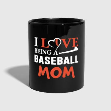 I Love Being Baseball Mom T Shirt - Kubek jednokolorowy