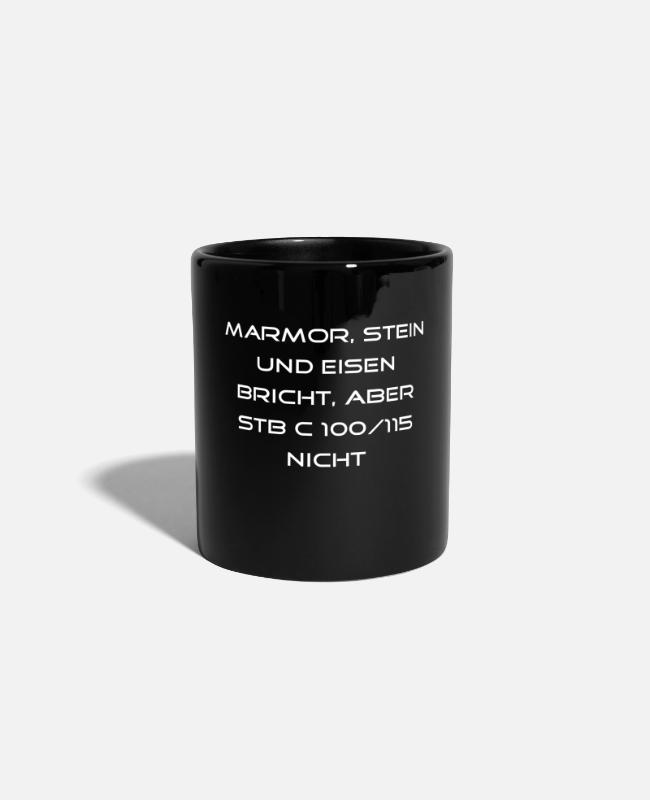 Architect Mugs & Drinkware - Reinforced concrete C100 / 115, Bauwelt - Mug black
