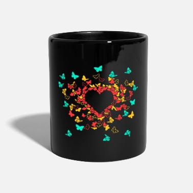 Valentinstag Butterfly Heart In Colour 1 - Tasse