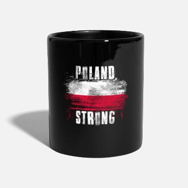 Show Poland Strong Distressed Graffiti Flag - Mug
