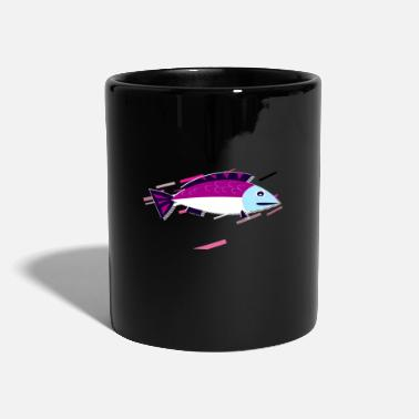 Clip Art Clip Art Sea 80s Retro Violeta - Taza de un color