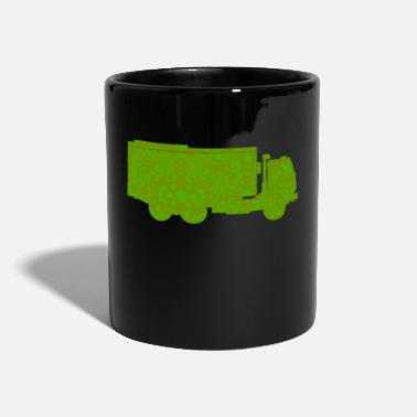 Vehicle garbage truck vehicle truck - Full Colour Mug