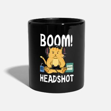 Boom Head Shot Boom Headshot / Boom head shot / Cat / Gaming - Mug