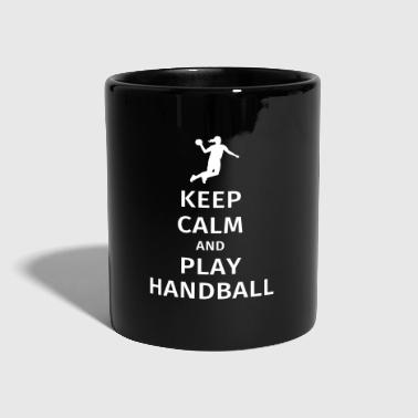 keep calm and play handball - Taza de un color
