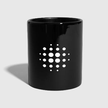 Pattern Blurry | Points | White | gift idea - Full Colour Mug