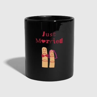 Just married fingers - Tasse einfarbig