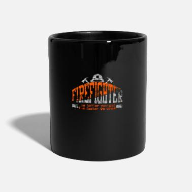 Fire Extinguisher Firefighters occupation gift fire extinguish mate hot - Full Colour Mug