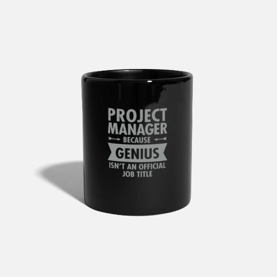 Career Mugs & Drinkware - Project Manager - Genius - Mug black