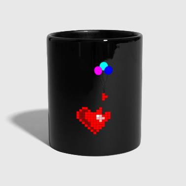 Pixel with heart - Full Colour Mug