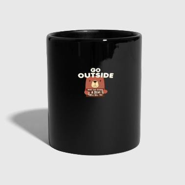 Go Outside Bear Will Kill You - Camping Shirt - Tasse einfarbig