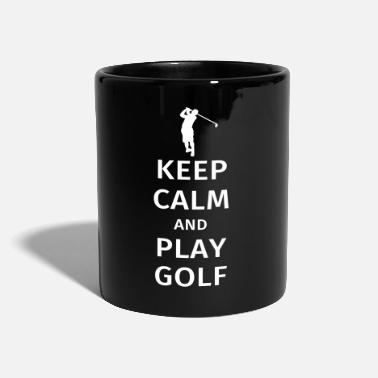 Golf Keep Calm and Play Golf - Yksivärinen muki