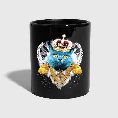 Blue Cat the King - hero - König Krone Held - Tasse einfarbig