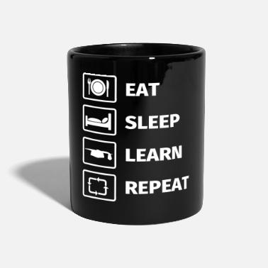 Abschluss EAT SLEEP LEARN REPEAT - Tasse einfarbig