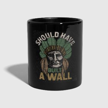 Native American USA Indian Wall Mexico Trump - Kubek jednokolorowy